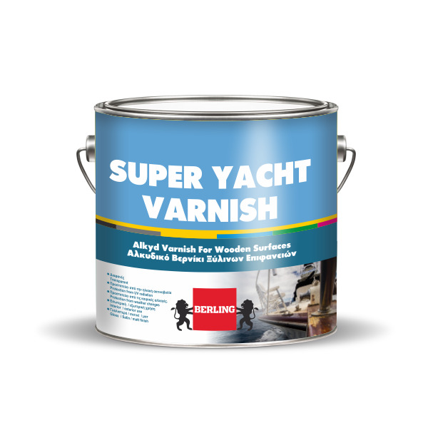 SUPER YACHT VARNISH Βερνίκι Σατινέ 2,5lt