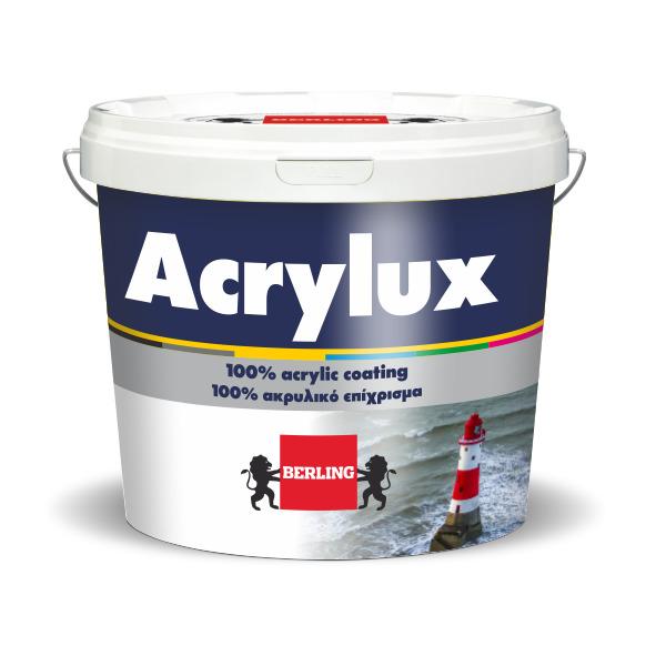 ACRYLUX 10lt Υπέρλευκο Ακρυλικό Χρώμα