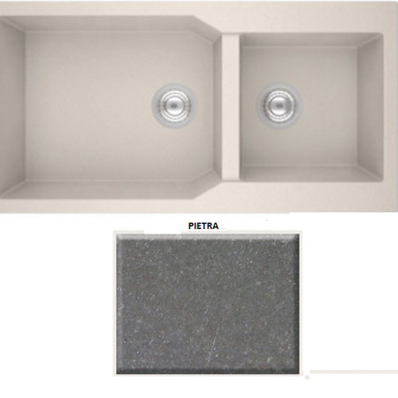 Sanitec ULTRA GRANITE 98 2B 803 Νεροχύτης Pietra